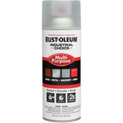 Rust-Oleum Industrial 1600 System Gen Purpose Enamel Aerosol, Crystal Clear, 12 oz. - 1610830 - Pkg Qty 6