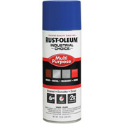 Rust-Oleum Industrial Choice 1600 System Gen Purpose Enamel Aerosol, Safety Blue, 12 oz.- 1624830 - Pkg Qty 6