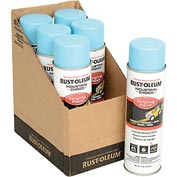 Rust-Oleum S1600 System Inverted Striping Paint Aerosol, Blue - Pkg Qty 6