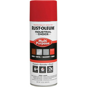Rust-Oleum Industrial 1600 System General Purpose Enamel Aerosol, Safety Red, 12 oz. - 1660830 - Pkg Qty 6