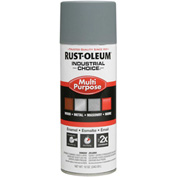 Rust-Oleum Industrial Choice 1600 System Gen Purpose Enamel Aerosol, Gray Primer, 12 oz.- 1680830 - Pkg Qty 6