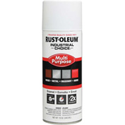 Rust-Oleum Industrial 1600 System General Purpose Enamel Aerosol, White Primer, 12 oz. - 1681830 - Pkg Qty 6