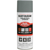 Rust-Oleum Industrial 1600 System General Purpose Enamel Aerosol, Smoke Gray, 12 oz. - 168830 - Pkg Qty 6