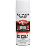 Rust-Oleum Industrial 1600 System General Purpose Enamel Aerosol, Glossy White, 12 oz. - 1692830 - Pkg Qty 6