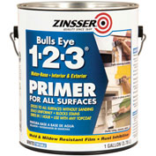 Zinsser® Bulls Eye 1-2-3® Water-Base Primer, White Gallon Can - 2001 - Pkg Qty 4