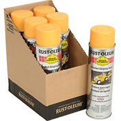 Rust-Oleum 2300 System Inverted Striping Paint Aerosol, Yellow - Pkg Qty 6