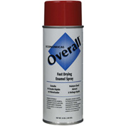 Rust-Oleum Red Overall Economical Enamel Aerosol, 10 oz. - V2407830 - Pkg Qty 6