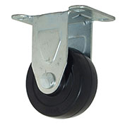 "RWM Casters 27 Series VersaTrac® 3"" Hard Rubber Wheel Rigid Caster - 27-HRO-0312-R"