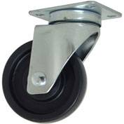 "RWM Casters 27 Series VersaTrac® 3"" Polyolefin Wheel - Ball Bearing - Swivel Caster"