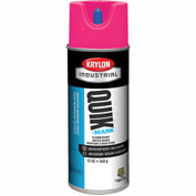 Krylon Industrial Quik-Mark Wb Inverted Marking Paint Fluorescent Pink - S03405 - Pkg Qty 12
