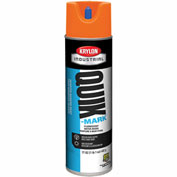 Krylon Industrial Quik-Mark Wb Inverted Marking Paint Fluorescent Orange - A03700004 - Pkg Qty 12