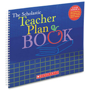 "Scholastic Teacher Plan Book (Updated) 439710561, 13"" x 11"", White, 1 Each"
