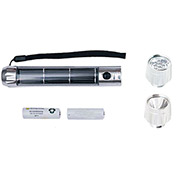 Sun-In-One™ SIOSFDH Solar Flashlight, Dual Head, Brushed Aluminum