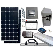 Sun-In-One™ SPLK2 Solar Shed Power & Lighting, 12 Volt 84 Amp Hr AGM Batt., 11-20 Yr Bulb Life