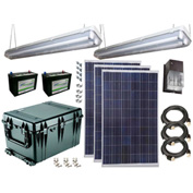 Sun-In-One™ SPLK4 Solar Shed Power & Lighting, (2) 12 Volt 290 Amp Batt., 11-20 Yr Bulb Life