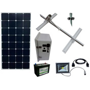 Sun-In-One™ SSLK3 Solar Sign Lighting, Kit 3, 12 Volt 140 Amp Hour AGM battery