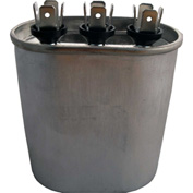 CD25+5X370 Oval Dual Run Capacitor 25 + 5 MFD x 370V