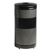 "Can And Bottle Recycling Container, Black, 25 gal., 18""Dia x 35.5""H"
