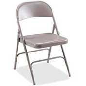 Lorell® Steel Folding Chair - Beige - 4 Chairs/Pack - Pkg Qty 50