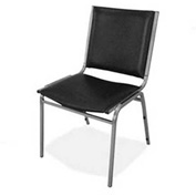 "Lorell® Padded Armless Stacking Chair, 120 Chairs, 20-3/4""W x 19-1/2""D x 35-5/8""H, Black, 4/PK - Pkg Qty 30"