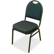 "Lorell® Round Back Stack Chair, 120 Chairs, 18""W x 22""D x 35-1/2""H, Blueberry/Blk Fabric, 4/PK - Pkg Qty 30"