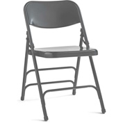 Steel Folding Chair - Gray/Gray