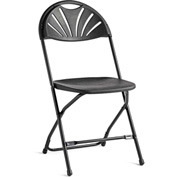 2000 Series Light Weight Injection Molded Fanback Stacking Chair Black