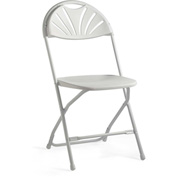 2000 Series Light Weight Injection Molded Fanback Stacking Chair - White