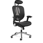 Zurich Mesh Office Chair - Black/Black