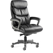 Lisbon Executive Chair, Bonded Leather - Black