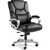 Hamburg Big & Tall Chair, Bonded Leather - Black