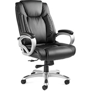 San Mateo Big & Tall Chair, Bonded Leather - Black