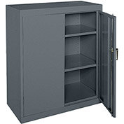 "Sandusky Classic Counter Height Storage Cabinet CA21362442-02 - 36""W x 24""D x 42""H Charcoal"