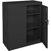 "Sandusky Classic Counter Height Storage Cabinet CA21362442-09 - 36""W x 24""D x 42""H Black"