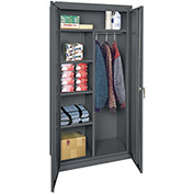 "Sandusky Classic Combination Storage Cabinet CAC1362478-02 - 36""W x 24""D x 78""H Charcoal"
