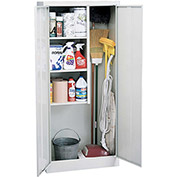 "Sandusky Value Line Janitorial Supply Cabinet EFC1362472-05 - 36""W x 24""D x 72""H Dove Gray"