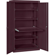 Sandusky Pull-Out Tray Shelf Storage Cabinet ET52362466 - 36x24x66, Burgundy