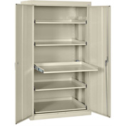 Sandusky Pull-Out Tray Shelf Storage Cabinet ET52362466 - 36x24x66, Putty