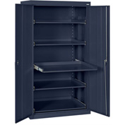 Sandusky Pull-Out Tray Shelf Storage Cabinet ET52362466 - 36x24x66, Navy