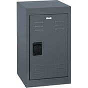 "Sandusky Welded Steel Color Lockers LF1B151524-02 - 15""W x 15""D x 24""H Charcoal"