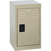 "Sandusky Welded Steel Color Lockers LF1B151524-07 - 15""W x 15""D x 24""H Putty"