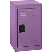 "Sandusky Welded Steel Color Lockers LF1B151524-31 - 15""W x 15""D x 24""H Grape Juice"