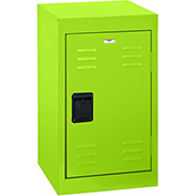 "Sandusky Welded Steel Color Lockers LF1B151524-38 - 15""W x 15""D x 24""H Electric Green"