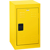 "Sandusky Welded Steel Color Lockers LF1B151524-EY - 15""W x 15""D x 24""H Yellow"