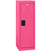 "Sandusky Welded Steel Color Lockers LF1B151548-30 - 15""W x 15""D x 48""H Pom Pom Pink"