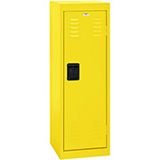 "Sandusky Welded Steel Color Lockers LF1B151548-EY - 15""W x 15""D x 48""H Yellow"