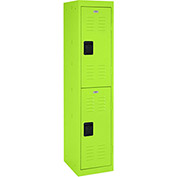 "Sandusky Welded Steel Color Lockers LF2B151866-38 - 15""W x 18""D x 66""H Electric Green"