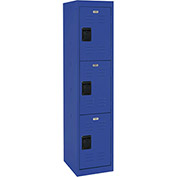 "Sandusky Welded Steel Color Lockers LF3B151866-06 - 15""W x 18""D x 66""H Blue"