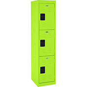 "Sandusky Welded Steel Color Lockers LF3B151866-38 - 15""W x 18""D x 66""H Electric Green"