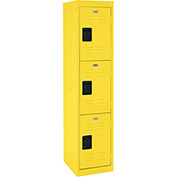 "Sandusky Welded Steel Color Lockers LF3B151866-EY - 15""W x 18""D x 66""H Yellow"